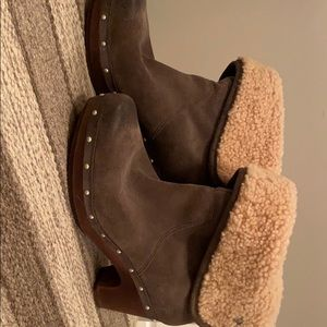 Fleece lined booties